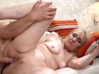 Granny Gets Young Cock In Her Wrinkled Old Pussy