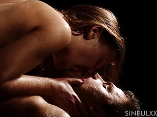 wet erotic couple loves sex