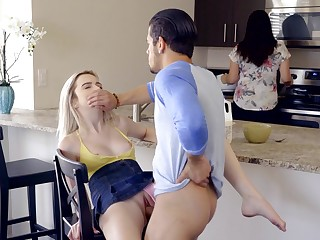 Tight blonde gets fucked with mommy in eradicate affect room