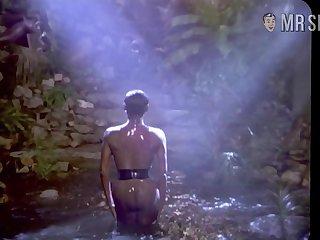 Glamorous celebrity Grace Jones flaunting her beautiful nude ebony body