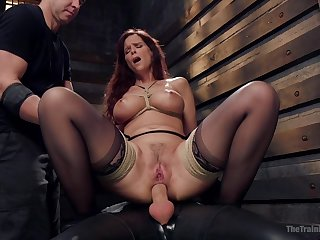 Busty mature ass fucked while playing fully submissive