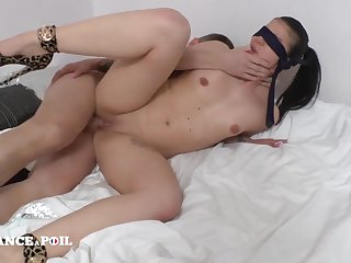 A Blindfolded Young Wife Offered Hard Core