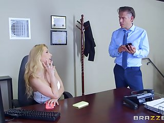 Secretary goes full mode in gloryhole porn play at the office