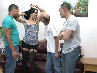 Video of interracial gangbang with dirty mature wife Mahina Zaltana