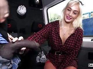 Backseat BIG BLACK COCK super-bitch