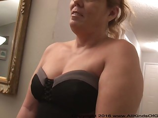 Mexican grandmother gilf with large ass attempts out be advisable for assfuck inexperienced pornography