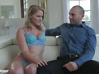 Beautiful girl Lisey Sweet is making love with new experienced boyfriend