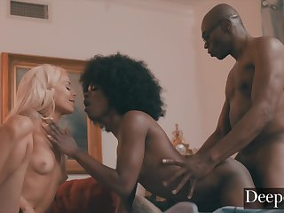 Ana And Elsa Are A Unique Fantasy - Interracial 3Some