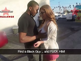Picked up Puerto Rican nerdy nympho Skylar Snow gives a good solid blowjob
