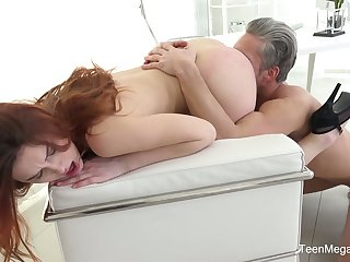 Flat chested Czech cowgirl Charli Red gives proper blowjob before steamy fuck
