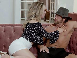 Housewife Kate Kennedy is craving for sex with sweaty muscular gardener