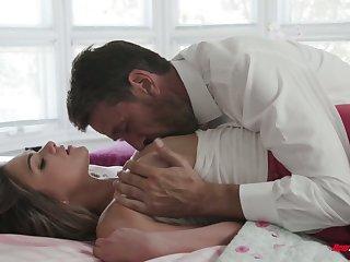Sugar daddy enjoys fucking young beautiful student Athena Faris