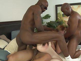 MILF Kirsten Kitz loves to be gangbanged by big black dicks