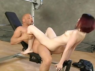 Pale and cute emo-girl Julie gives ass to JP