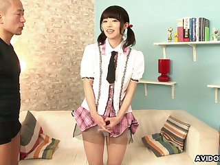 Not so shy Japanese girl lets perverted men touch her body for some quick cash